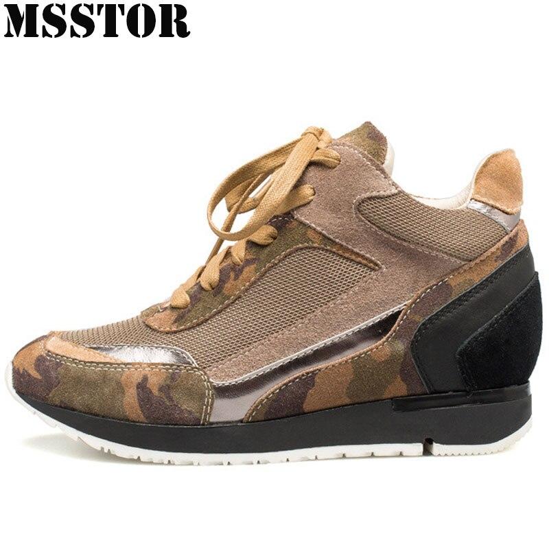 MSSTOR Fall2018 Womens Run Running Shoes Height Increasing Winter Sneakers For Women Outdoor Athletic Walking Ladies Sneakers