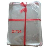 200 יח'\חבילה חדשים נקה דבק עצמי חותם פלסטיק שקיות פולי שקופה שקיות מול 34 * 24 ס