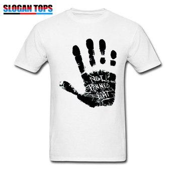 Lost Season Mens Tshirt Europe Size Men T-shirt Not Pennys Boat Handprint Male Clothing 2019 Man Tops White Tees Adventure Time