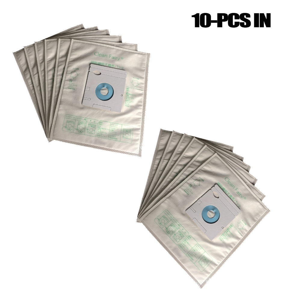 10-Piece Universal dust bags for Panasonic M AMC Hitachi GP-55F-2000F SC-P3 NEC CL-3P Toshiba VPF-2 Mitsubishi MP-2 bags цена