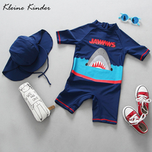 Boys Shark Swimsuit Children Swimwear UV Protection Sunscreen Baby Boy One Piece Rash Guards Infant Kids Bathing Suit