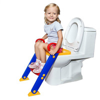 Safe Baby Toilet Seat Folding Potty Toilet Trainer Seat Chair Step with Adjustable Ladder Kids Potty FR/US/ES Warehouse