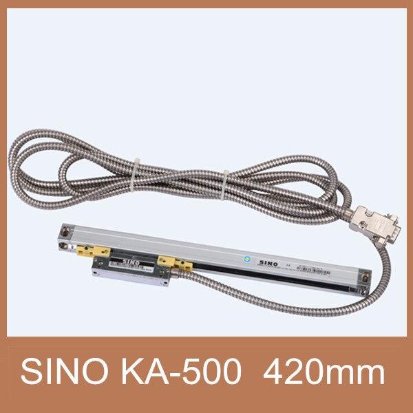 Livraison Gratuite optique capteur échelle 5um Sino KA500 420mm capteur de position linéaire Sino KA-500 420mm optique capteur de distance