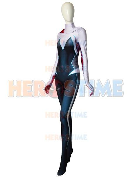 Hight Quality 3D Printed Spider-Man Gwen Stacy Ghost-Spider Cosplay Costume Spiderman Bodysuit Lycra Spidergirl Zentai Suit