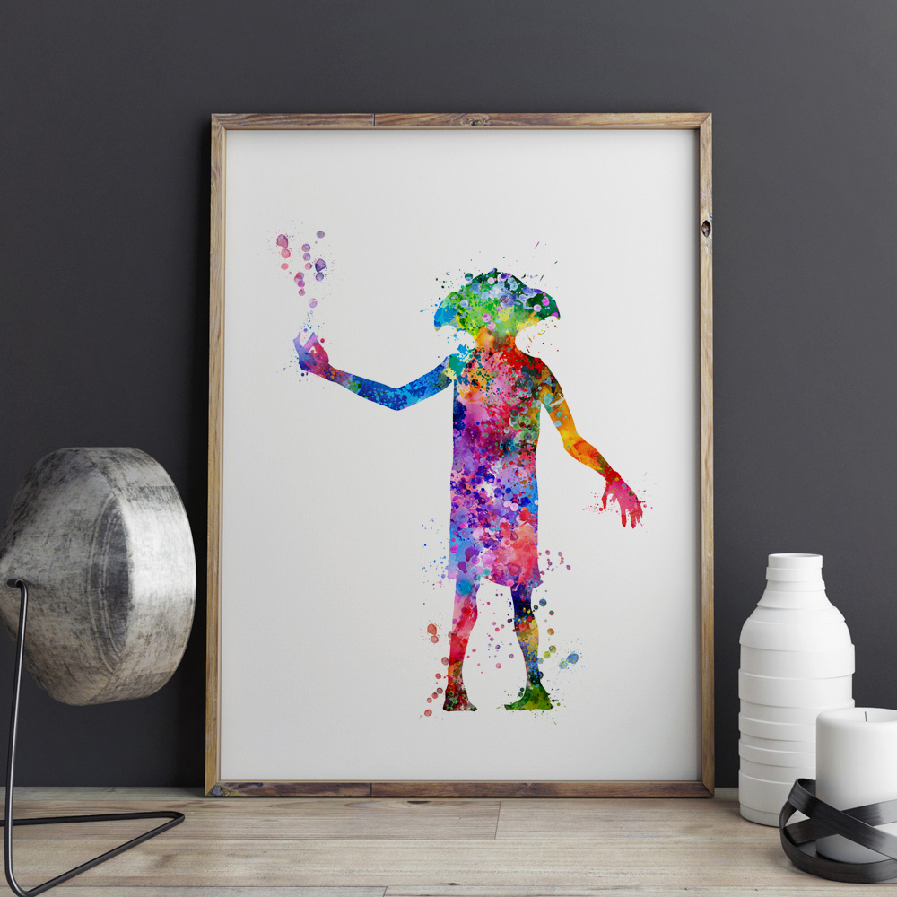 Buy harry potter art print dobby poster for Where to buy fine art