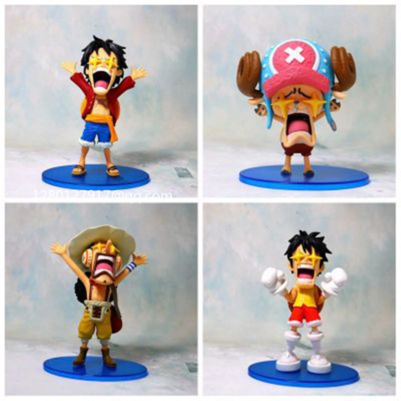 Us 16 15 30 Off One Piece Monkey D One Piece Monkey D Luffy Tony Tony Chopper Usopp Bintang Mata Bajak Laut Topi Jerami Wcf Pvc Action Figure Toy