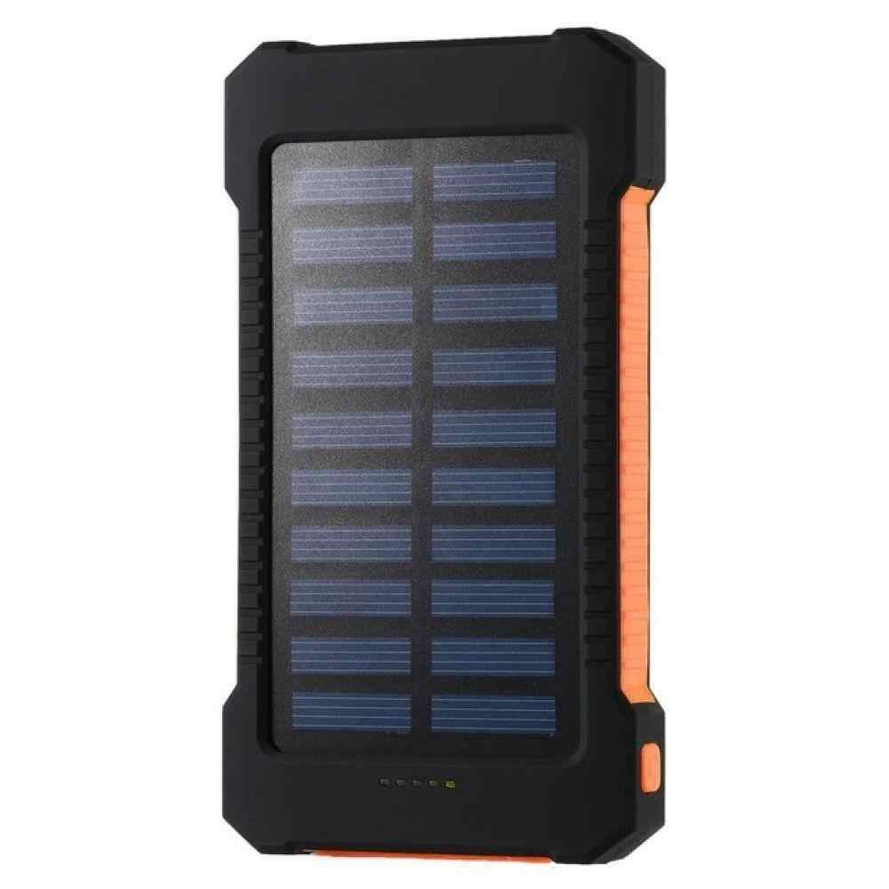 Portable Solar Power Bank 30000 MAh Tahan Air Baterai Eksternal Backup Powerbank 30000 MAh Baterai Ponsel Charger LED Pover Bank