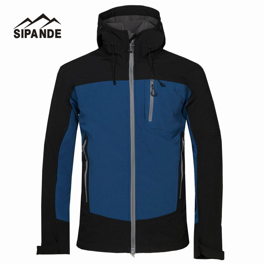 Fleece Softshell Jacket men Outdoor Waterproof Windproof Camping male Hooded Hiking Fishing Ski Clothing detector men ski jacket hight waterproof mountain hiking camping jacket fleece hight windproof ski jacket