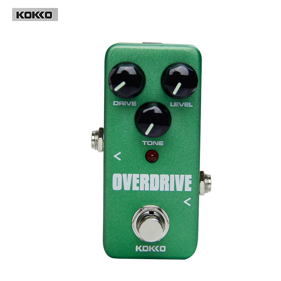 Kokko FOD3 Mini Overdrive Guitar Effect Pedal/Protable,High Quality Guitar Effect Pedal/Guitar Accessories kokko fbs2 mini guitar effect pedal guitarra booster high power tube electric guitar two segment eq effect device parts