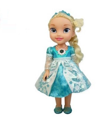 Disney 34cm New Dolls Snow and Ice Princess Frozen Princess Salon Doll Singing Elsa Doll Snow Queen for Christmas Birthday Gift