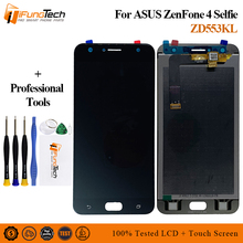 купить 5.5'' LCD For Asus Zenfone 4 Selfie ZB553KL X00LD X00LDA LCD Display Panel Touch Screen Digitizer Glass Sensor Assembly + Tools дешево