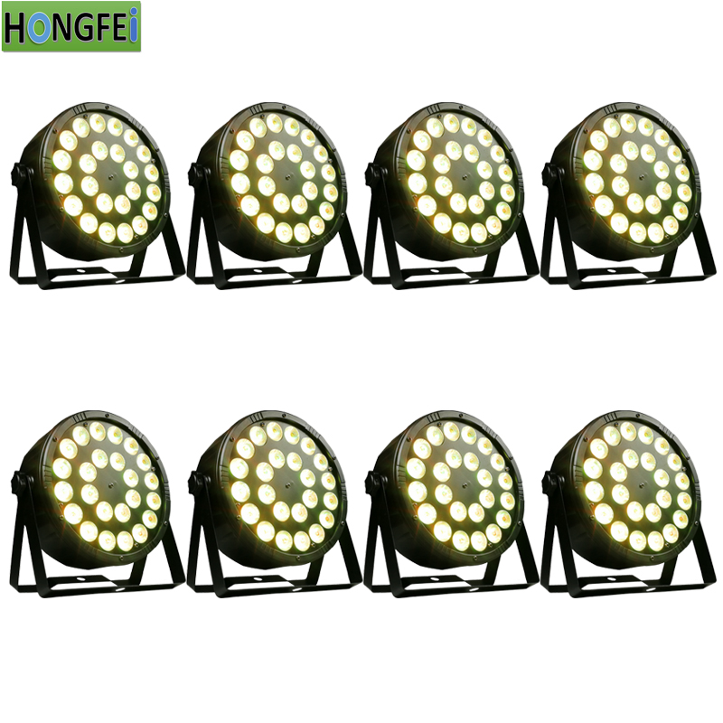 8pieces lot 24x12w rgbw 4 in 1 led par lights 12w led flat par light dmx512