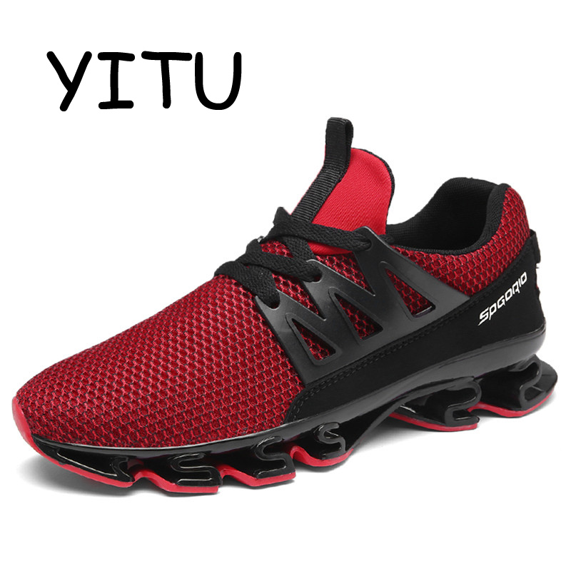 YITU 2018 Summer Outdoor Running Shoes Men Breathable Sneakers Black Running Athletic Shoes Women Sport Walking Jogging Shoes summer running shoes mesh men walking camping shoes outdoor sport breathable running shoes