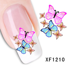 Nail Art Sticker Colorful butterfly Decal Beauty manicure Water Transfer Stickers Flowers Design Manicure Tool