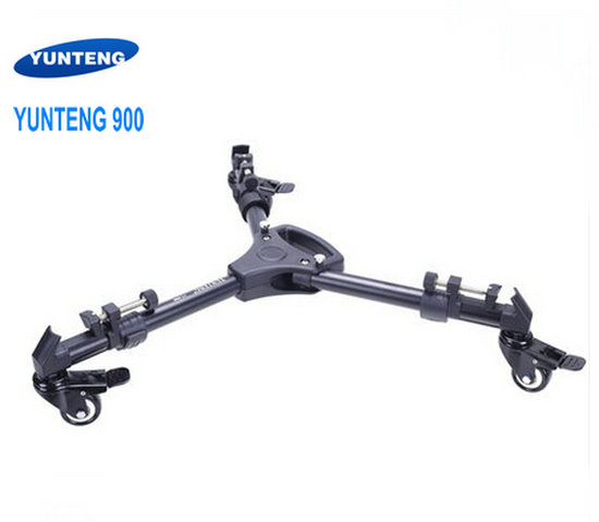 Professional Pro 3 Wheels Pulley Universal Folding Camera Tripod Dolly Base Stand 900 hot sale yt 900 professional foldable tripod dolly for photo video yt 900lighting lockable 3 wheels yunteng 900