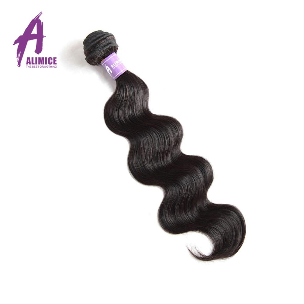 ALIMICE Peru Tubuh Gelombang Non-remy Rambut Manusia Menenun Bundel - Rambut manusia (untuk hitam)