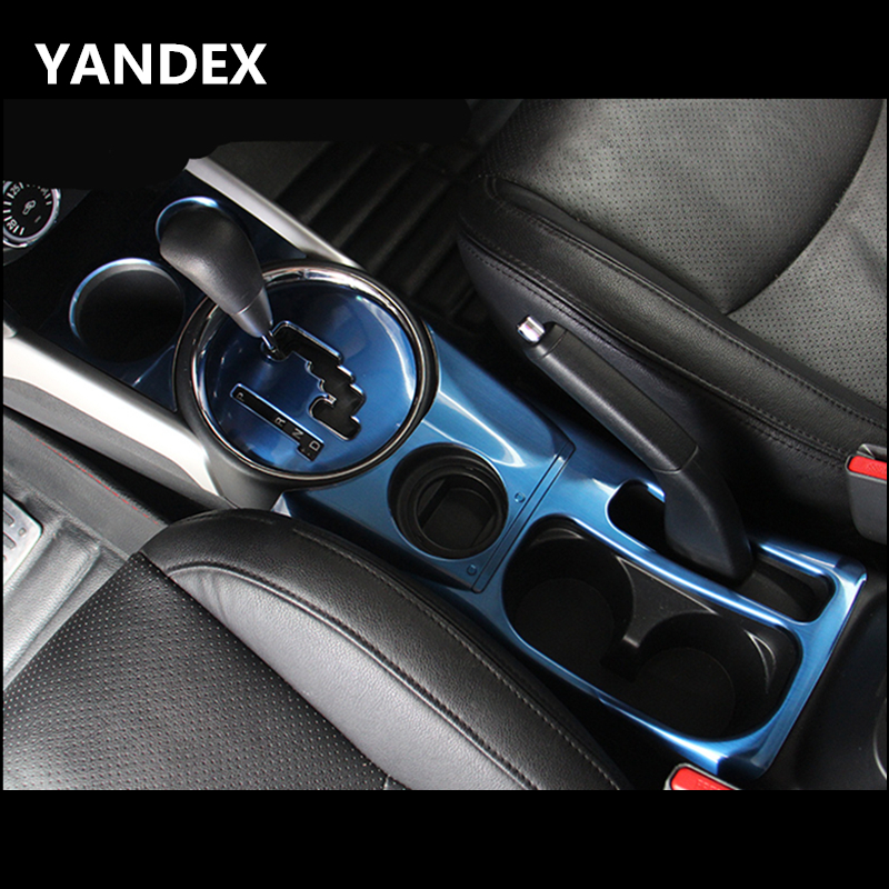 Фотография YANDEX 3pcs Car interior stainless steel Hand brake panel for MITSUBISHI ASX accessories 2011 2012 2013 2014 2015 2016