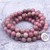 Natural Rhodochrosite Stone Beaded Charm Bracelet/ Necklace 4