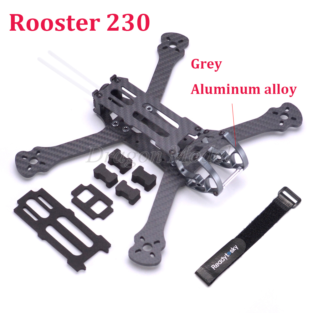 Rooster 230 225mm wheelbase 5 inch Racing Drone Quadcopter Frame FPV Freestyle Frame with aluminium alloy cage-in Parts & Accessories from Toys & Hobbies    1