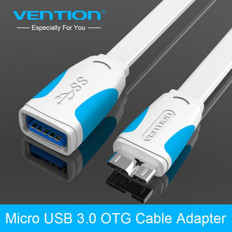 Vention Micro USB 3.0 OTG Cable Adapter for Samsung Galaxy S5 Note 3 N9000 Nokia 2520 Tablet