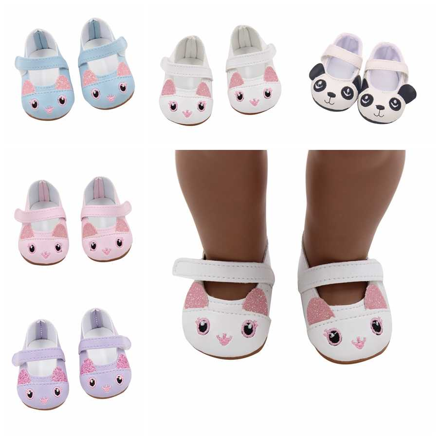 New Arrival Cute Animal Shoes 7cm Dolls Shoes for 43cm Reborn Doll and 1/3 BJD Doll Suit Baby 18 Inches American Doll