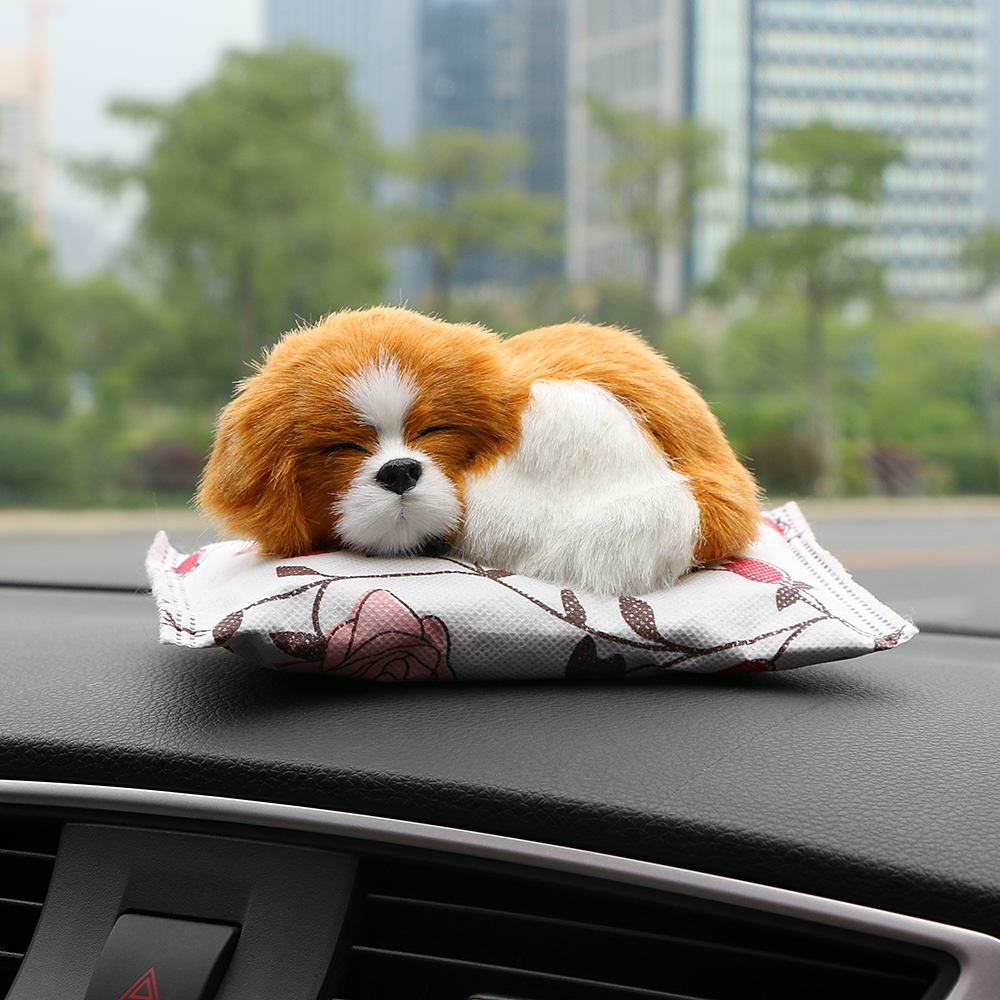 Car Ornaments Cute Dog Doll Air Freshener Purify Home Auto Decoration Puppy Adsorb Odor Deodorant Bamboo Charcoal Accessories