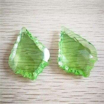 Light Green 50mm 40pcs Crystal Chandelier Pendants Maple Leaf For Lamp/Lighting Decoration