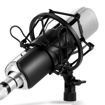 Q8 3.5mm Studio Condenser Microphone with Real-time monitoring large diaphragm condenser microphone for Karaoke Recording