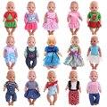 Акция, Одежда для кукол, 15 видов стилей, платье, юбка для 18 дюймов, американская кукла, 43 см, Детская кукла для нашего поколения, Рождественска...