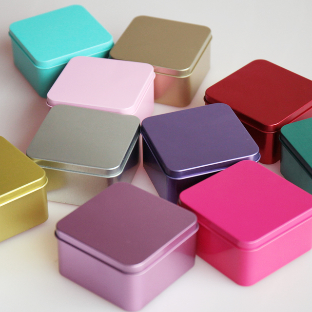 wedding box candy Chocolate Gifts More Color Tin Favor Boxes-in