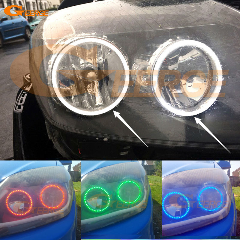 For OPEL Astra H 2004 2005 2006 2007 2008 2009 2010 2011 Halogen Headlight Multi-Color Ultra bright RGB led Angel Eyes kit car rear trunk security shield cargo cover for jeep compass 2007 2008 2009 2010 2011 high qualit auto accessories