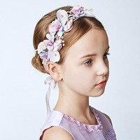 Japoński koreański Mody Handmade Diamentowe Perły Opaski dla Dziewczyny Kwiat Ślub Bride Biżuteria Ozdoby Pasmo Włosów Akcesoria