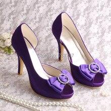 (20สี)ลดลงการจัดส่งสินค้าขนาดบวกปั๊มส้นแพลตฟอร์มS Hoseเจ้าสาวผู้หญิงพรรคโบว์รองเท้า