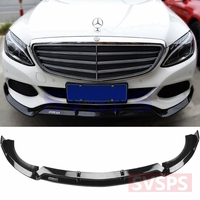 Front Bumper Lip Front Skirt Front body kit For Mercedes Benz For Brabus C class W205 C180 C200 C300 business vogue 2015 2018