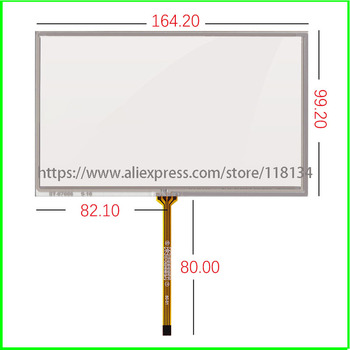 10pcs 7inch 4wire ST-07006 165mm*100mm 164mm*99mm touch  for AT070TN92 90 AT070TN94 HSD070IDW1-D00E11 digitizer  touch panel