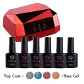 4x10Ml Kit Nail Gel Manicure Set Gel Nail Polish Set With LED Lamp Nail Dryer Lamp For Nails Diamond Shape