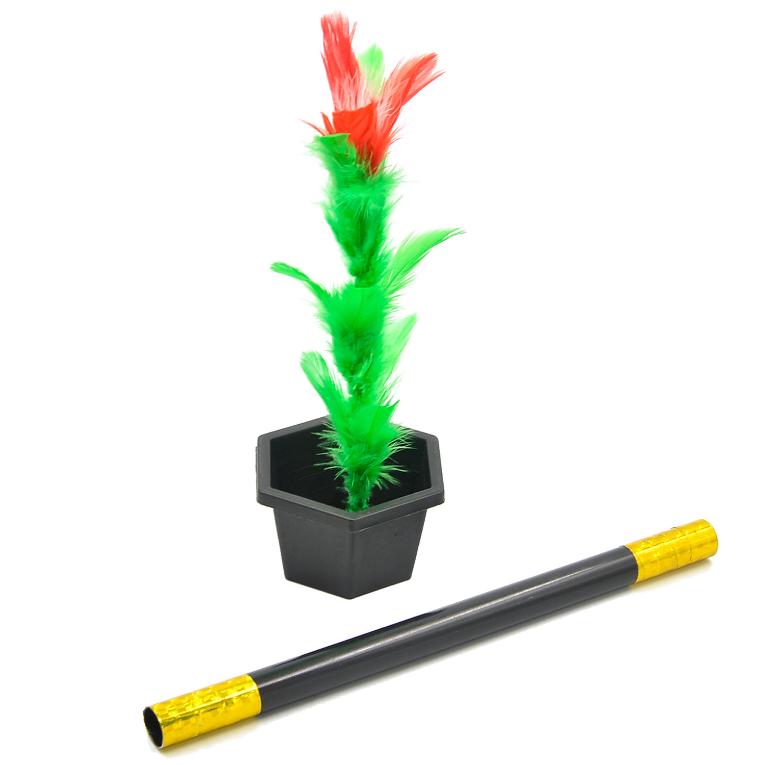 Magic Flower Stick Rod Pop up Flower Magic Props Magic Trick Magic Joke Toy Easy to Play for Kids Party Show