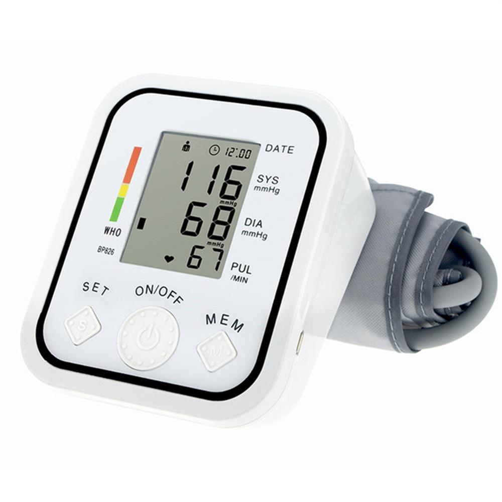 ФОТО Digital Upper Arm Blood Pressure Pulse Monitors tonometer Portable health care meters sphygmomanometer