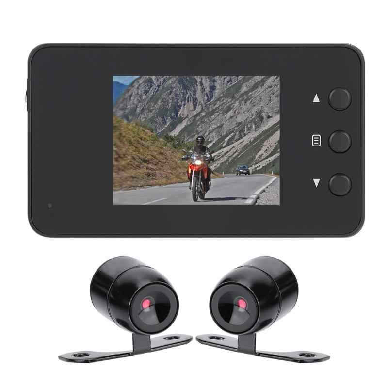 DVR Camcorder for 1080P Motorcycle Car Bike Dual Action Waterproof  Camera Dash Cam Video Recorder Night Vision Camcorders new