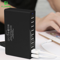 FLOVEME 10 Ports USB Charger Wall Charger Desktop Chargers For Smartphones Tablets With EU US Plug Black White Charger For iPad