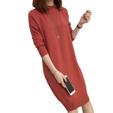 Women Knitted Dress Spring Autumn Winter 2018 sexy Bodycon Dresses Elastic  Slim Twinkle Female Sweater Dress 23b9993be23e