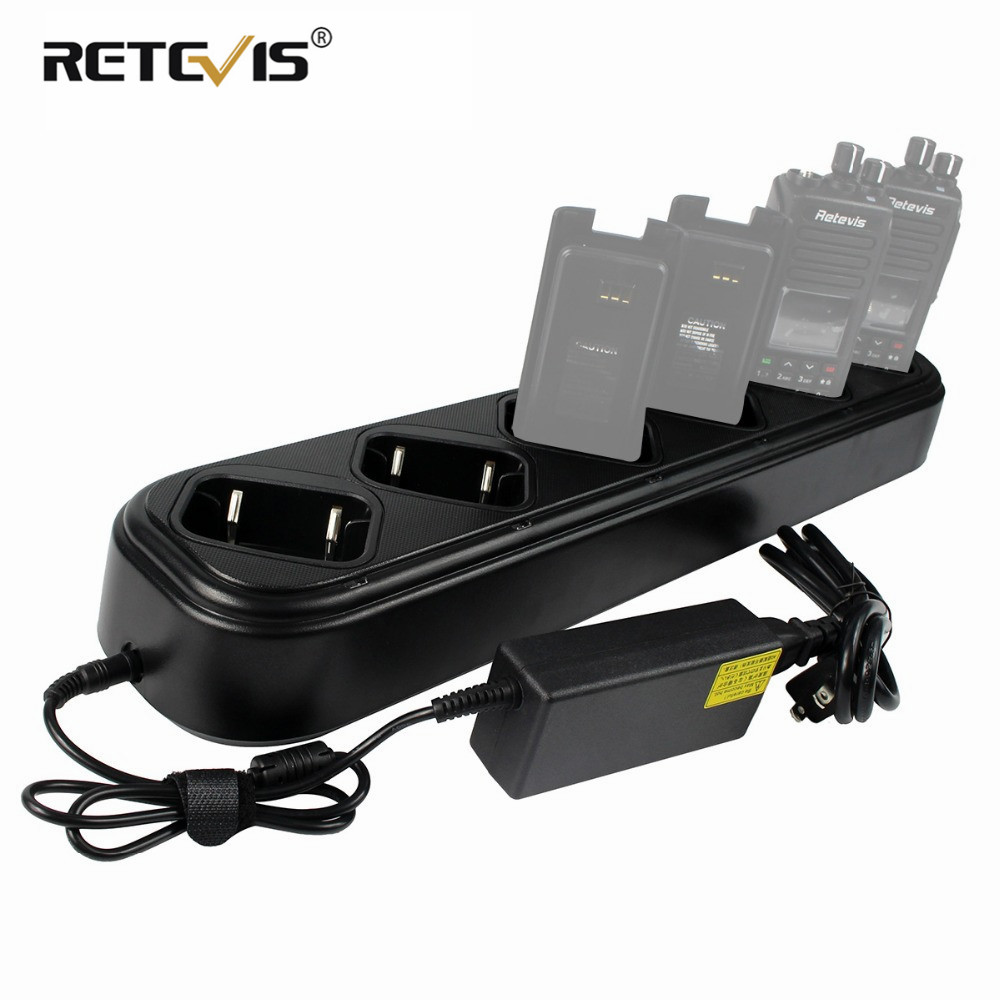 New Rapid Six-way Charger Single Row For Retevis RT8 RT81 RT82 For TYT MD-390 Walkie Talkie DMR Radio Charger Accessories J9115S