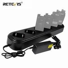 חדש מהיר שש דרך מטען שורה אחת עבור Retevis RT8 RT81 RT82 RT87 RT50 RT647/RT47 RT83 ווקי טוקי/סוללה מטען J9115S
