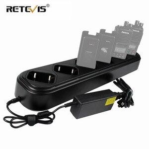 Image 1 - Yeni hızlı altı yollu şarj cihazı tek sıra Retevis RT8 RT81 RT82 RT87 RT50 RT647/RT47 RT83 Walkie talkie/pil şarj cihazı J9115S