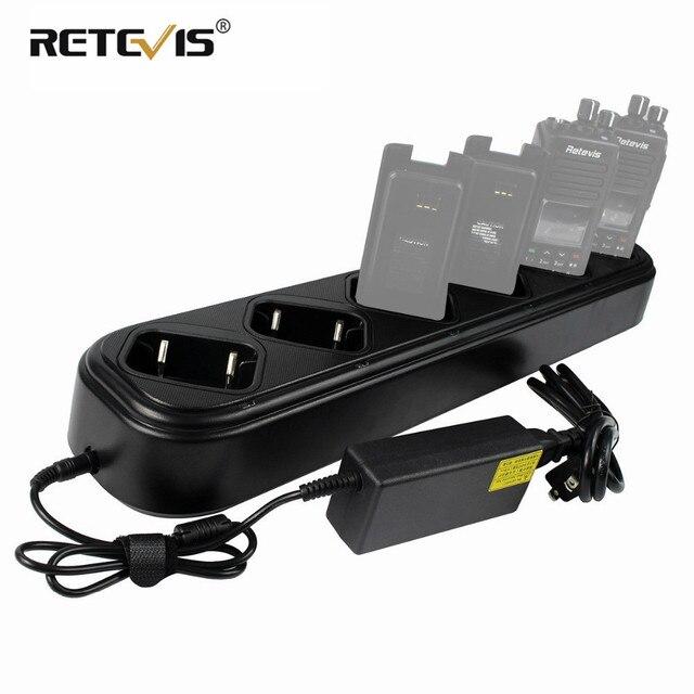 Yeni hızlı altı yollu şarj cihazı tek sıra Retevis RT8 RT81 RT82 RT87 RT50 RT647/RT47 RT83 Walkie talkie/pil şarj cihazı J9115S