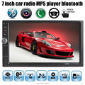 Comercio al por mayor de 7 Pulgadas LCD HD Doble DIN Car En El Tablero Táctil pantalla Auto radio Bluetooth/FM/reproductor MP4/MP5 Soporte de visión trasera cámara