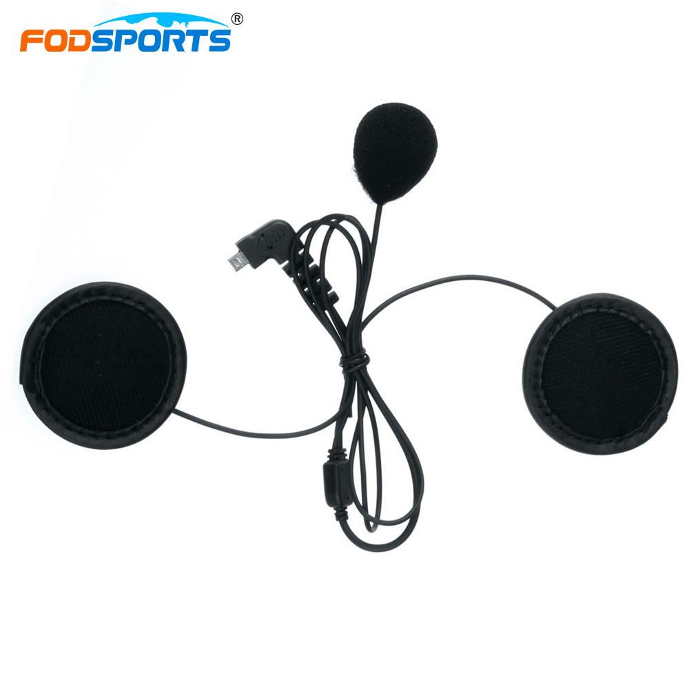 Fodsports Soft Tube Headphone Earpiece for BT-S2 Bluetooth Helmet Headsets Interphone Stereo Earphone free shipping 2x1000m motorcycle bt bluetooth multi interphone headsets helmet intercom extra soft earpiece
