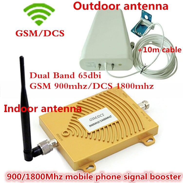 Meilleur prix!!! GSM DCS 1800 MHz GSM 900 Mhz double bande amplificateur de Signal de téléphone portable GSM 900 1800 4G amplificateur de répéteur de Signal ensemble complet