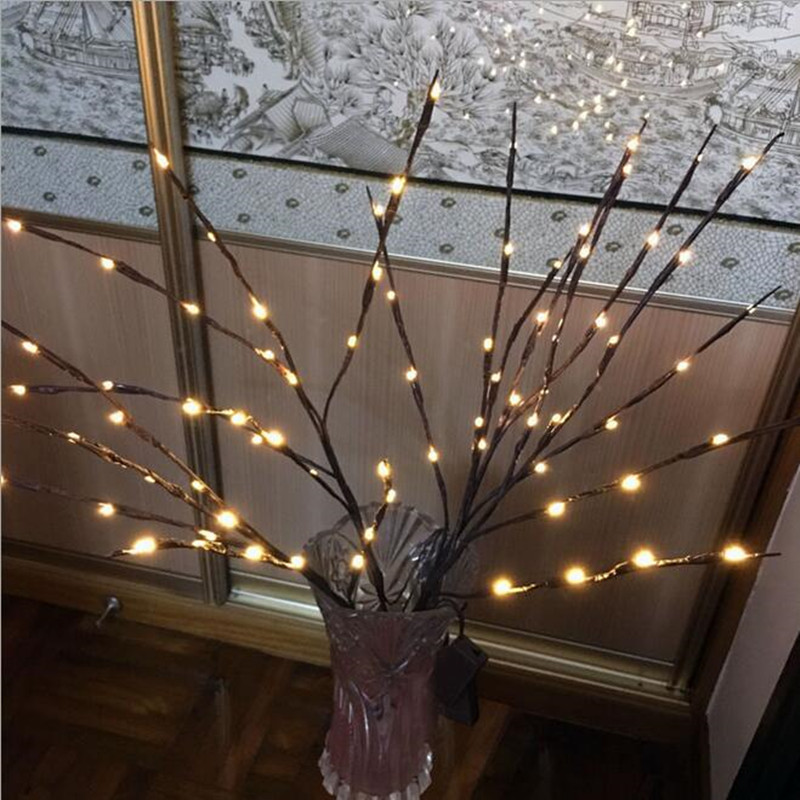 Led Lights Willow Branch Lamp 20 Leds Fairy String Light