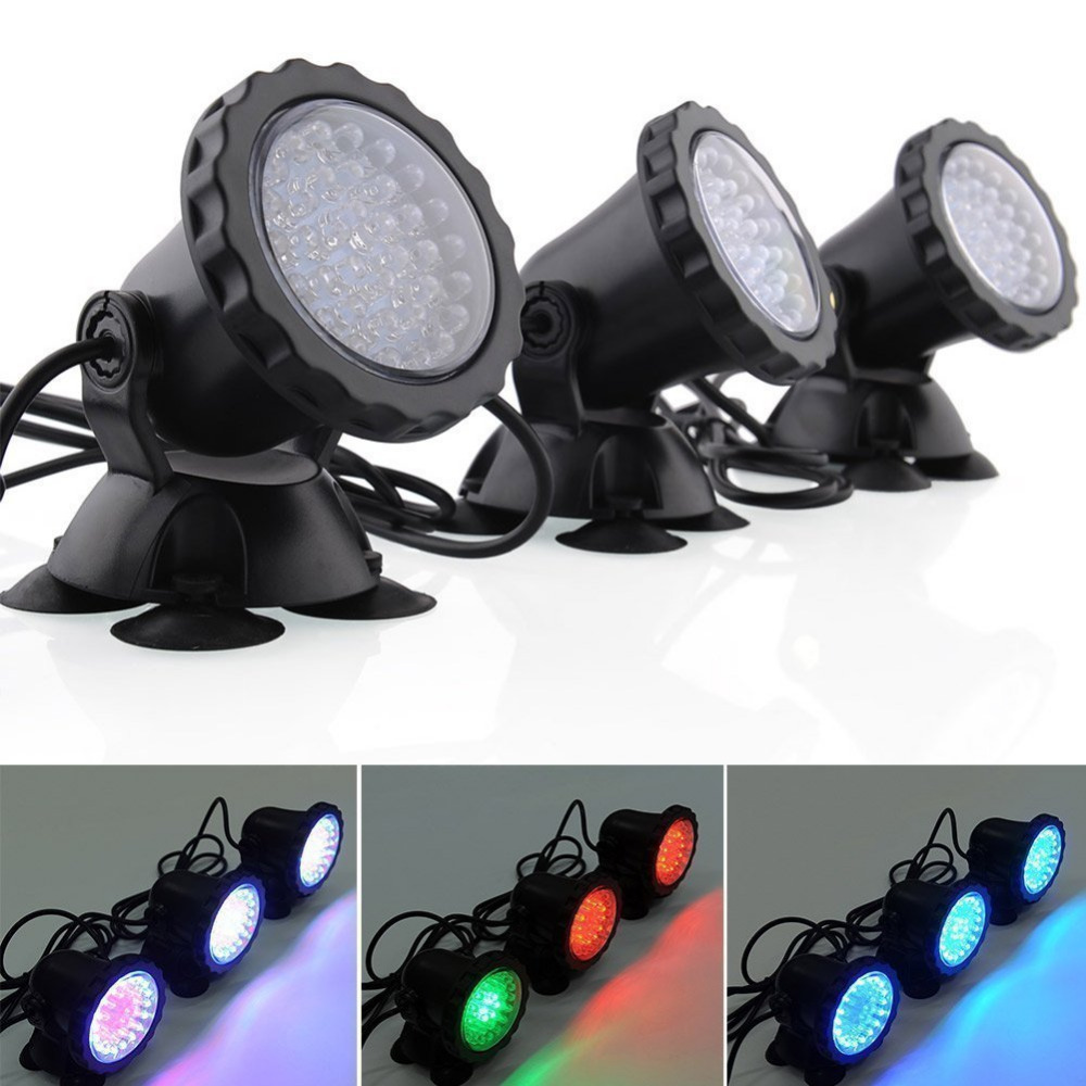 3 to 1 36-LED Waterproof Submersible Spotlight Landscape Lamp Set Energy Saving For Fountain Fish Pond Tank aquarium led light pontoon21 trait 00 bt02 062